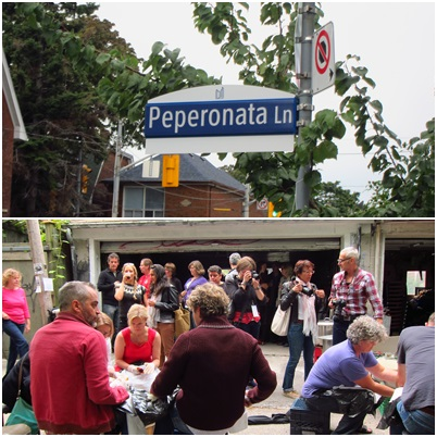 Peperonata Lane naming ceremony on September 14, 2013