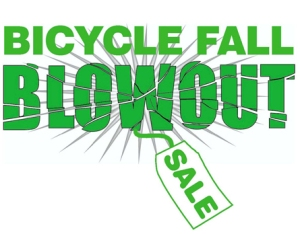 Bicycle Fall Blowout sale logo