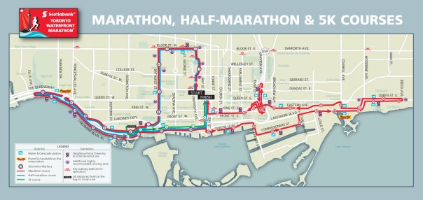 Bathurst and Bloor will be closed Sunday, October 20, 2013 for the Scotiabank Toronto Waterfront Marathon | Image credit Scotiabank Toronto Waterfront Marathon