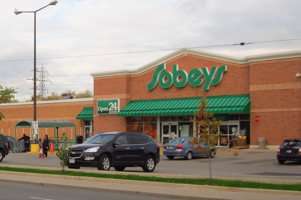 Two eleven-storey residential condo towers are proposed for the Sobey's site at Dupont and Shaw