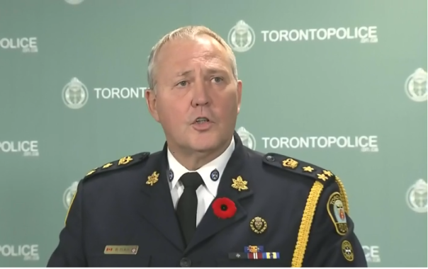 Toronto Police Chief Bill Blair announces police have the Ford crack video | Image: CP24 video screen grab