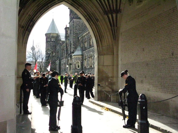Remembrance Day services at University of Toronto Soldiers' Tower