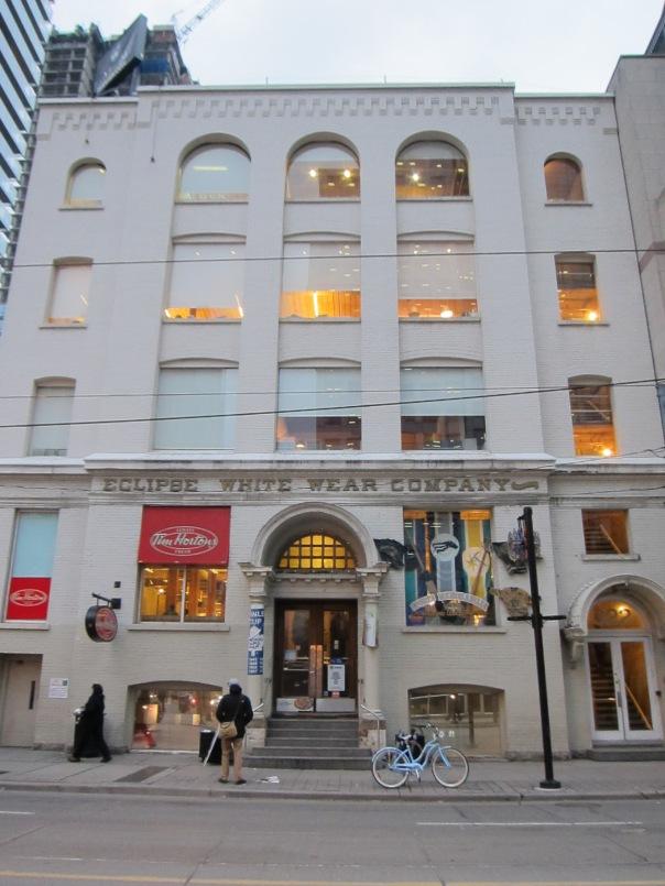 Eclipse White Wear Building, 1903, 322 King  Street West